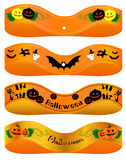 Halloween ribon. Halloween Ribbon illustration of the material Royalty Free Stock Photo