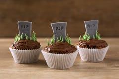 Halloween RIP cupcakes Royalty Free Stock Photo