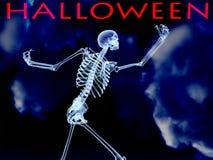 Halloween röntgenstråleben   Arkivfoton