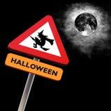 halloween roadsign Arkivbilder