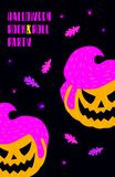 Halloween rock and roll party Royalty Free Stock Photography