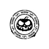 Halloween round rubber stamp Royalty Free Stock Photo