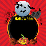 Halloween rounded frame Stock Photography