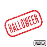 Halloween rubber stamp with grunge texture design. Vector illustration royalty free illustration