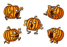Halloween Runaway Pumpkin set Royalty Free Stock Photography