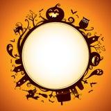 Halloween rundete Grenze für Entwurf Lizenzfreies Stockfoto