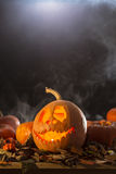 Halloween rzeźbiąca pączuszku Zdjęcie Stock