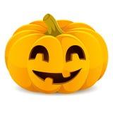 Halloween rzeźbiąca pączuszku Uśmiechnięty lampion na a Fotografia Stock