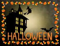 Halloween-Süßigkeit-Mais-Feld gespenstisch Stockfotos