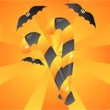 Halloween-Süßigkeithintergrund stock abbildung