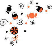 Halloween-Süßigkeits-Ecke Stockbild
