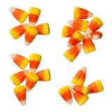 Halloween-Süßigkeits-Körner lokalisiert auf Weiß Lizenzfreie Stockfotos
