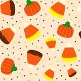 Halloween-Süßigkeits-nahtloser Rüttler Lizenzfreie Stockfotos