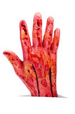 Halloween's amputated hand Stock Images