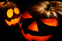 Halloween's Jack-o Lanterns Royalty Free Stock Images