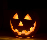 Halloween's orange pumpkin Stock Image