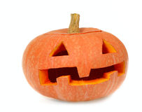 Halloween's orange pumpkin Stock Photography