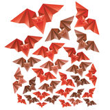 Halloween's origami bats Royalty Free Stock Images