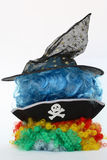 Halloween's pile. Pile wigs and hats of halloween Stock Photography