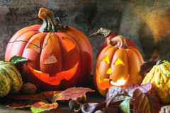 Halloween's pumpkins Royalty Free Stock Images