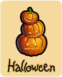 Halloween S Three Pumpkin Heads Of Jack Royalty Free Stock Images
