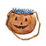 Halloween sack with candies. And sweets Hand drawn image Stock Photography