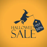 Halloween sale background. Seasonal clearance Royalty Free Stock Photo