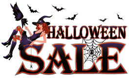 Halloween sale banner Royalty Free Stock Photography