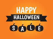 Halloween sale banner background royalty free stock photography