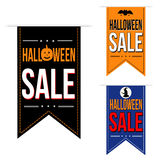 Halloween sale banner design set Stock Photos