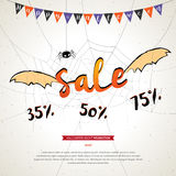 Halloween sale banner grunge background Stock Photography