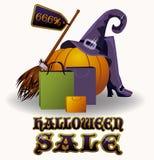 Halloween sale banner, vector Stock Photo