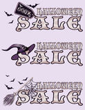 Halloween sale banners Royalty Free Stock Images