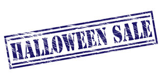 Halloween sale blue stamp Stock Photography
