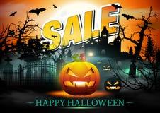 Halloween Sale Card. Royalty Free Stock Photo
