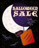 Halloween sale card, vector Royalty Free Stock Photos