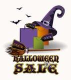 Halloween sale card, vector Royalty Free Stock Photography