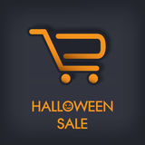 Halloween sale concept design. Eps10 vector Royalty Free Stock Photo
