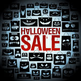 Halloween sale design with paper bags. Halloween sale design with scary paper bags backdrop Royalty Free Stock Image