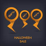 Halloween sale discount tags eps10 vector Stock Photo