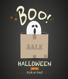 Halloween Sale Ghost Stock Images