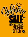 Halloween sale. Happy holiday. Vector illustration Stock Photo