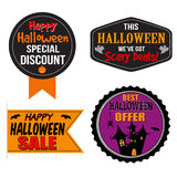 Halloween sale label, sticker or stamps Stock Images