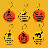 Halloween sale label stickers Stock Photos