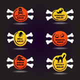 Halloween sale label stickers Royalty Free Stock Images