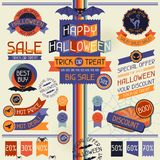 Halloween sale labels and stickers Stock Photography