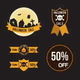 Halloween sale offer design template for greeting card, ad, prom. Otion, poster, flier, blog, article, social media, marketing Royalty Free Stock Images