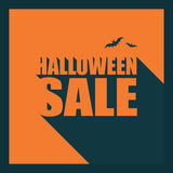 Halloween sale poster template. Special holiday Stock Photography