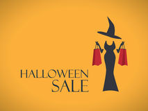 Halloween sale poster template. Special holiday Stock Photo