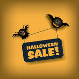 Halloween sale poster template. Special offer Stock Image